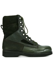 Sacai Hender Scheme Lace Up Boots Green