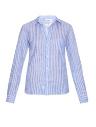 Frank And Eileen Barry Striped Linen Shirt