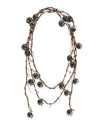 Missoni Knotted Suede Rose Necklace Women's
