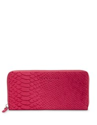 Liebeskind Python Embossed Leather Wallet Cherry Blossom Red