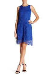 Donna Ricco Lace Shift Dress Petite Blue