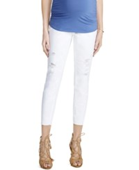 Motherhood Maternity Cropped Jeans White Wash