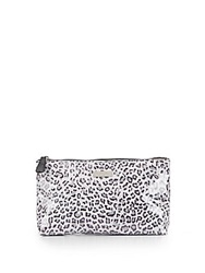 Saks Fifth Avenue Large Leopard Print Cosmetics Bag