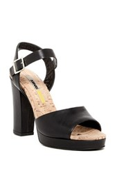 Manas Design Ankle Strap Cork Bed Sandal Black