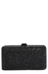 Sondra Roberts Crystal Mesh Box Clutch Black