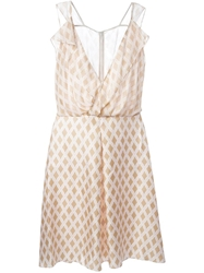3.1 Phillip Lim Draped Wrap Dress Nude And Neutrals