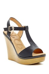 Elegant Footwear Nassa Wedge Sandal Black