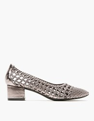 Jeffrey Campbell Bitsie Woven In Pewter