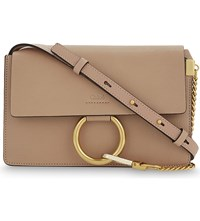 Chloe Faye Small Leather Satchel Biscotti Beige Pink