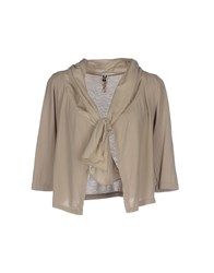 European Culture Knitwear Cardigans Women Beige