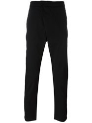 Hope 'Indy' Drape Fastening Drop Crotch Trousers Black