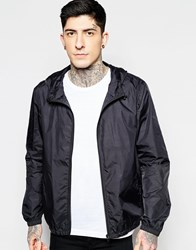 Brave Soul Lightweight Perforated Wind Cheater Jacket Black