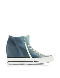 Converse Limited Edition Ctas Lux Mid Ambient Blue Wedge Sneaker