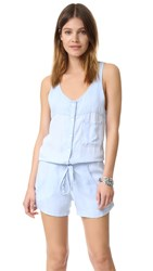 Rails Lily Romper Light Vintage Wash