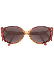 Christian Dior Vintage Oversized Frame Sunglasses Brown