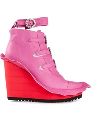 Swear By Ryan Lo 'Anita' Booties Pink And Purple