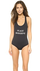 Tavik Plage Moderne T Back Swimsuit Jet Black