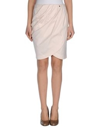 Annarita N. Knee Length Skirts Beige