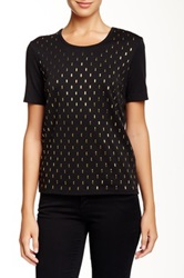 Joan Vass Studded Short Sleeve Tee Black