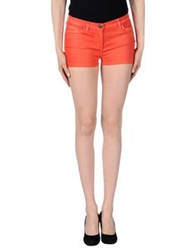 Who S Who Denim Shorts Orange