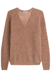 Mes Demoiselles V Neck Pullover With Alpaca Rose