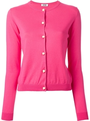 Moschino Cheap And Chic Round Neck Cardigan Pink And Purple