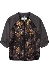 Day Orient Embellished Satin And Wool Jacket