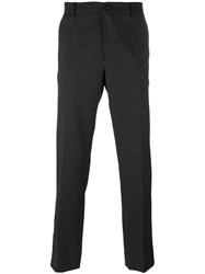 Dolce And Gabbana Embroidered Patch Trousers Grey