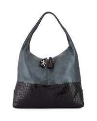 Canotta Crocodile Embossed Hobo Bag Henry Beguelin