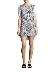 Finders Keepers Printed Short Sleeve Tunic Pink Leopard
