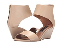 Steven Laynna Nude Leather Women's Wedge Shoes Pink