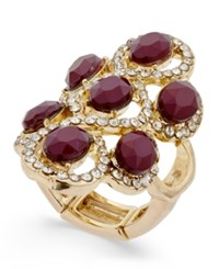 Inc International Concepts Gold Tone Red Stone Filigree Statement Ring Only At Macy's Merlot