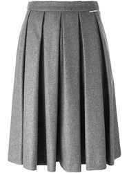 Twin Set Midi Pleated Skirt Grey