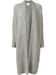 Dkny Open Front Cardi Coat Grey