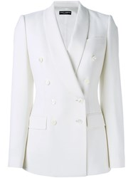 Dolce And Gabbana Fitted Blazer White