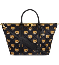 Moschino Bear Print Quilted Tote 1555