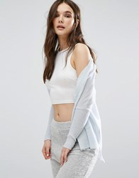 Subtle Luxury Cashmere Loose And Easy Cardigan Sky Blue