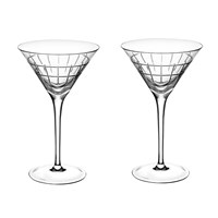 Christofle Graphik Martini Glasses Set Of 2