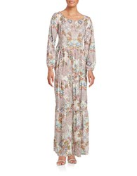 Highline Collective Off The Shoulder Peasant Maxi Dress Pink