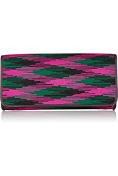 M Missoni Wool Clutch Purple