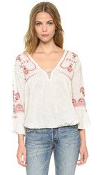 Free People Chiquita Top Ivory Combo