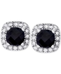 Victoria Townsend Sapphire 1 1 2 Ct. T.W. And Diamond Accent Stud Earrings In Sterling Silver
