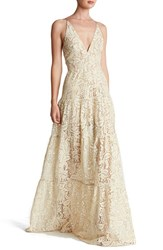 Women's Dress The Population Lace Fit And Flare Gown