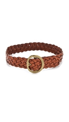 B Low The Belt Braided Belt Brown