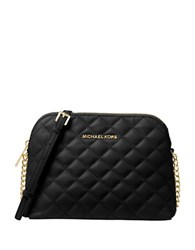 Michael Michael Kors Cindy Quilted Leather Crossbody Black