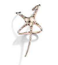 Cristina Ortiz Starfish Wrap Rose Gold Ring Female Silver