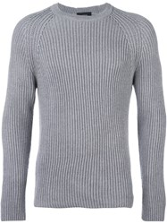 Joseph Cable Knit Jumper Grey