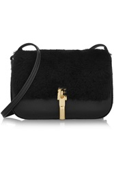Elizabeth And James Cynnie Nano Shearling And Textured Leather Shoulder Bag
