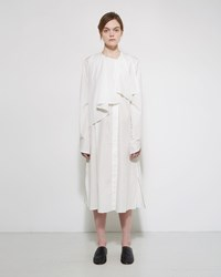 Christophe Lemaire Ruffle Collar Dress Chalk