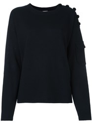 See By Chloe Buttoned Jumper Blue